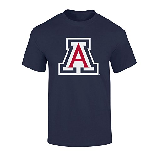 Elite Fan Shop NCAA Men's Arizona Wildcats T Shirt Team Color Icon Arizona Wildcats Navy XX Large