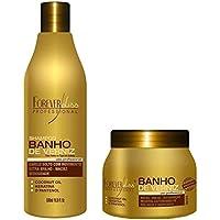 Forever Liss - Kit Banho de Verniz (Shampoo 500ml + Máscara 250g) Forever Liss