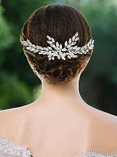 Handcess Combs clip Vine Opal strass di cristallo capelli sposa ... f4aa5f1fd022