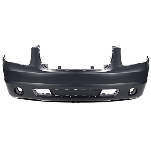 Bumper Hole Cover - CarPartsDepot 2007-2011 GMC Yukon XL Front Bumper Cover w Fog lIght & Tow Hook Holes CAPA