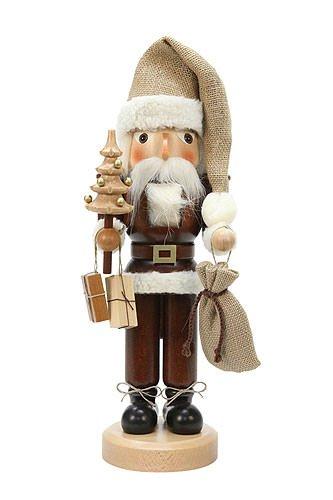 German Christmas Nutcracker Santa Claus natural - 40,5cm / 16 inch - Christian Ulbricht