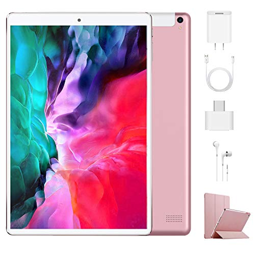 🥇 Tablet 10.1 Pulgadas 4G Android 9.0 Quad Core DUODUOGO P8 Tablet 4GB RAM 64GB ROM/128GB Escalables 8000mAh Doble SIM Doble Cámara Tablet PC Google GMS Netfilx WiFi GPS OTG