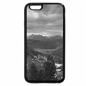 iPhone 6S Plus Case, iPhone 6 Plus Case (Black & White) - a serpentine valley road