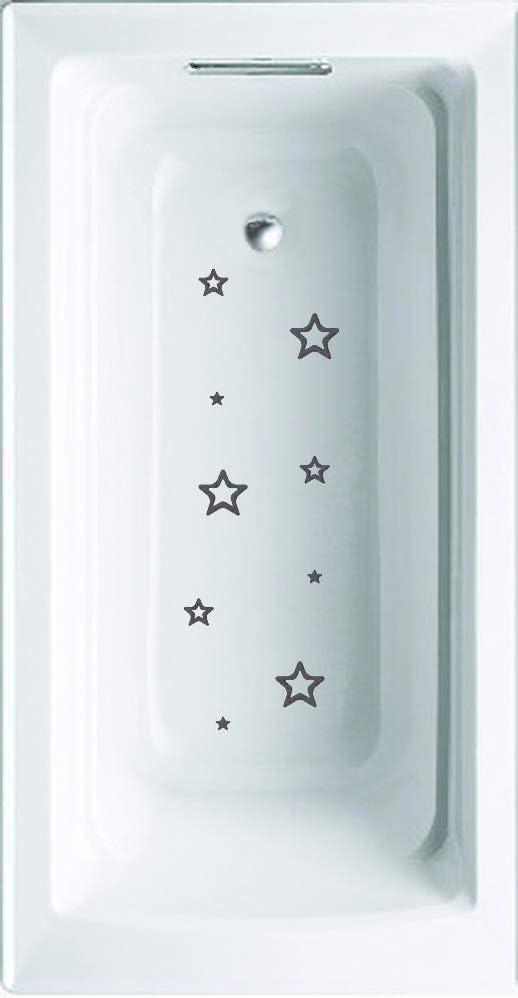 Wazel Gray Stars Non-Slip Saftey Shower or tub Grip Stickers