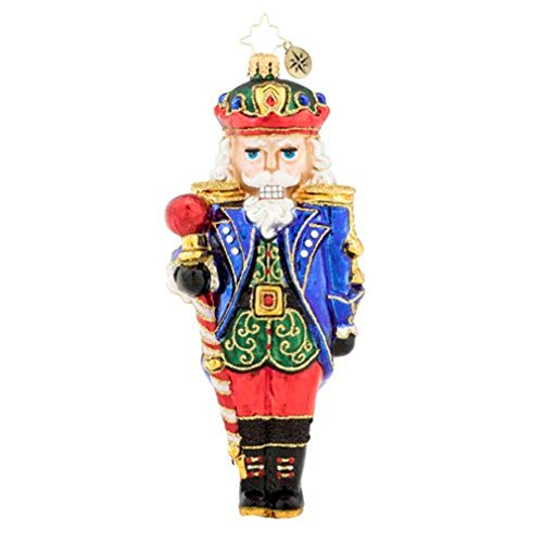 - Commander of The Nutcrackers Holiday Blue 7 x 3 Blown Glass Christmas Ornament