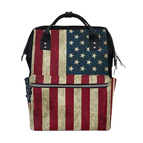 Mochila para hombre, diseño de bandera de Estados Unidos, mochilas para computadora portátil, bolsa de senderismo, mochila...