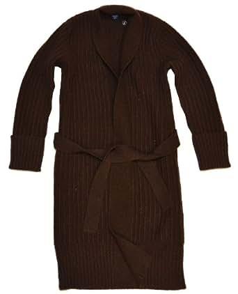 Ralph Lauren Women Belted Wool&Cashmere Cardigan Sweater Coat (S, Chocolate brown)