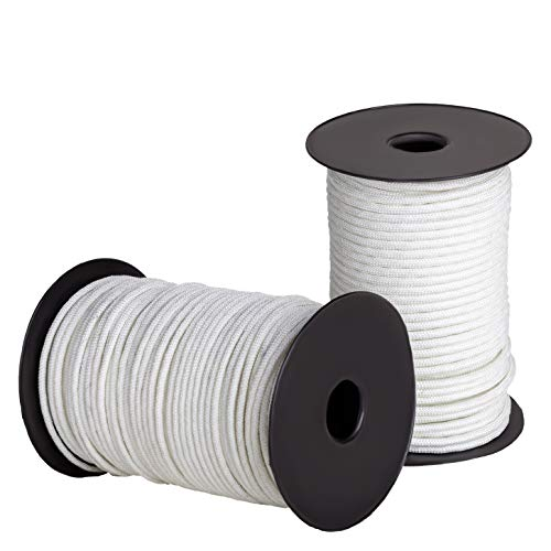 Ravenox Solid Braid Nylon Rope | Made in The USA | (White)(1/4 in x 500 ft) | Industrial Strength Cord for Lifting, Pulling, Towing, Securing, Mooring, Anchor Line & Tie-Down | by The Foot & Diameter