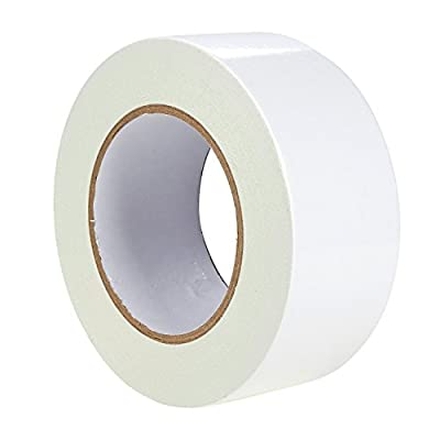 1 Piece Double Sided Carpet Tape - White Adhesive Tape for Household Carpet, Rug and Mat Repair, Decoration, Crafts and More - 30 yards