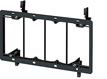 2-Gang Low Voltage Mounting Bracket Dry Wall Mount Old Work Construction