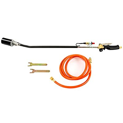 8MILELAKE Nozzle Propane Torch Weed Burner with Push Button Igniter