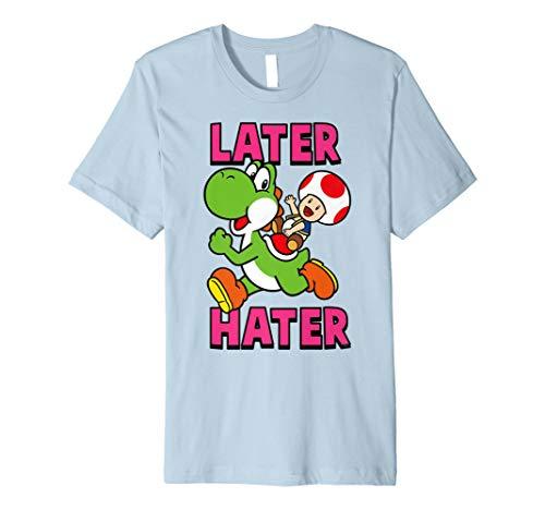 Nintendo Super Mario Yoshi Toad Later Hater Premium T-Shirt ()