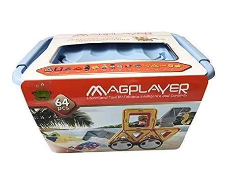 Magplayer Magnetisches Konstruktionsspielzeug 198 Teile Baukästen & Konstruktion