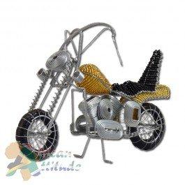 African Attitude Draht-Kunst Motorrad, gold: Amazon.de: Küche & Haushalt