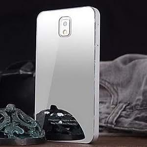 GX Teléfono Móvil Samsung - Cobertor Posterior - Color Sólido/Superficie de Cristal/Acabado Metálico/Diseño Especial/Nombre de Estilo Marca - para , Silver