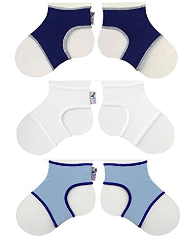 Sock Ons Clever Little Things That Keep Baby Socks On! 3 Pack Boys 0 - 6 Months