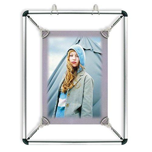 Posterhalter Stretch mit Federspannern | zeitloser Look, mit Alurahmen - zur Wandaufhängung | verschiedene Größen wählbar - DIN A4