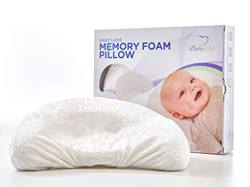 Baby Pillow | Comfortable Memory Foam Baby Head Shaping Pillow With Natural Bamboo Pillowcase To Prevent Flat Head Syndrome (Plagiocephaly) and Torticollis Correction in Newborn Infant