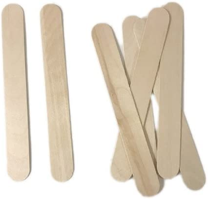 50 Pack 8 Inch Jumbo Wooden Craft Sticks