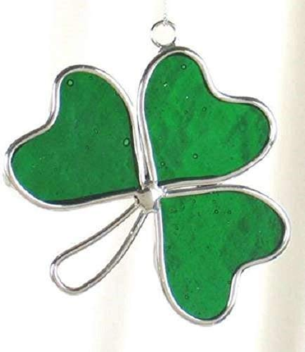 Stained Glass 3 Leaf Clover Sun Catcher
