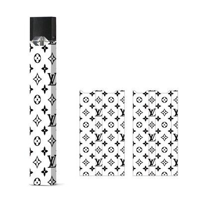 JaySkins White and Black LV Designer Juul Skin Decal Sticker Wrap