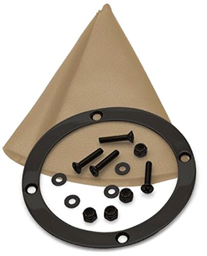American Shifter 404029 518 Shifter 10 Trim Kit Dipstick BLK Push Button TN Boot Ringed Knob for D6EC9