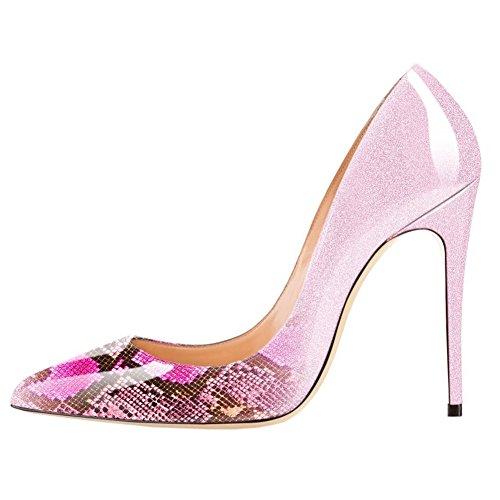 Merumote Donna Punta A Punta Stiletto Tacco Alto In Vernice Abito Da Party Al Solito Pumps Sfumato Rosa