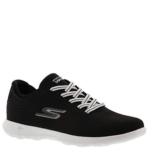 Skechers Womens 15350 Trainers Sneakers, Black/White Deal (Large Image)