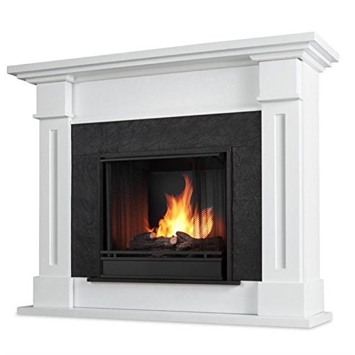 white gel fireplace - 7