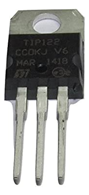 Major Brands TIP122. Transistor, Darlington, NPN, 100 Volt, 5 Amp, 3-Pin, 4.83 mm W x 9.4 mm H x 10.67 mm L (Pack of 10)