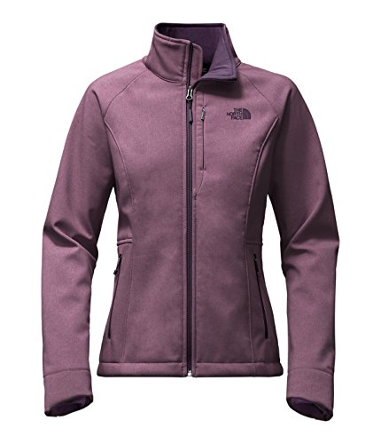 The North Face Apex Bionic 2 Womens Soft Shell Jacket, Black Plum Heather, XX-Large