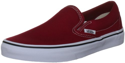 Vans U CLASSIC SLIP-ON (CANVAS) CHILI - Zapatillas de casa de lona unisex rojo - Rot ((Canvas) chili)
