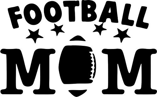 BEARGRAPHIX Football Mom Decal Sticker Car Motorcycle Truck Bumper Window Laptop Wall Décor Size- 6 Inch Wide Gloss White Color