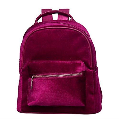 Eysee - Bolso mochila  de Piel Sintética para mujer rojo vino