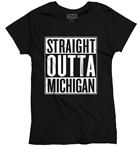 Straight Outta Michigan State Movie T Shirts Gift Ideas Cool Ladies T-Shirt