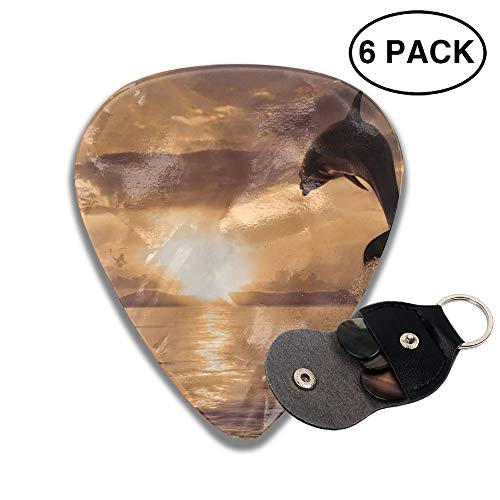 Colby Keats Guitar Picks Plectrums Animals Dolphin Jumping Classic Electric Celluloid Acoustic for Bass Mandolin Ukulele 6 Pack 3 Sizes .71mm ()