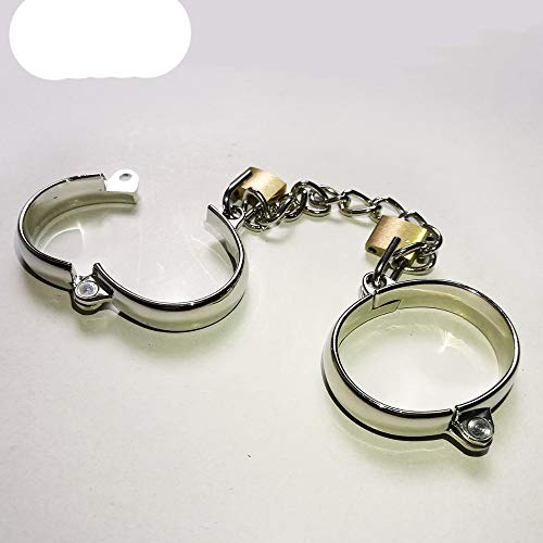 Superior Handcuffs Ankle Cuffs Stainless Steel, Lockable Wrist & Ankle, Bondage Restraints Sex Toys for Couple Sex Game M by UEKJCNS