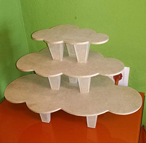 Tres mini mesas forma de nubes ideal para candy bar, mesa ...