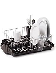Farberware 3 Piece Dish Rack Set Black