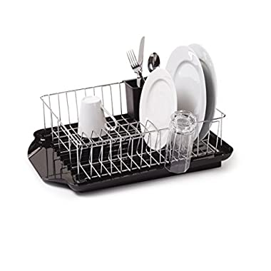 Farberware 3-Piece Dish Rack Set, Black