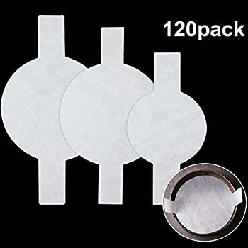 120 Pieces Precut Circle Cake Pan Liners Round Parchment Paper Non-stick Parchment Paper with Lift Tabs for Baking (White)