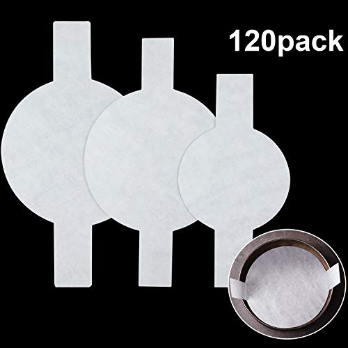 120 Pieces Precut Circle Cake Pan Liners Round Parchment Paper Non-stick Parchment Paper with Lift Tabs for Baking, White, 6 Inch, 8 Inch and 9 Inch