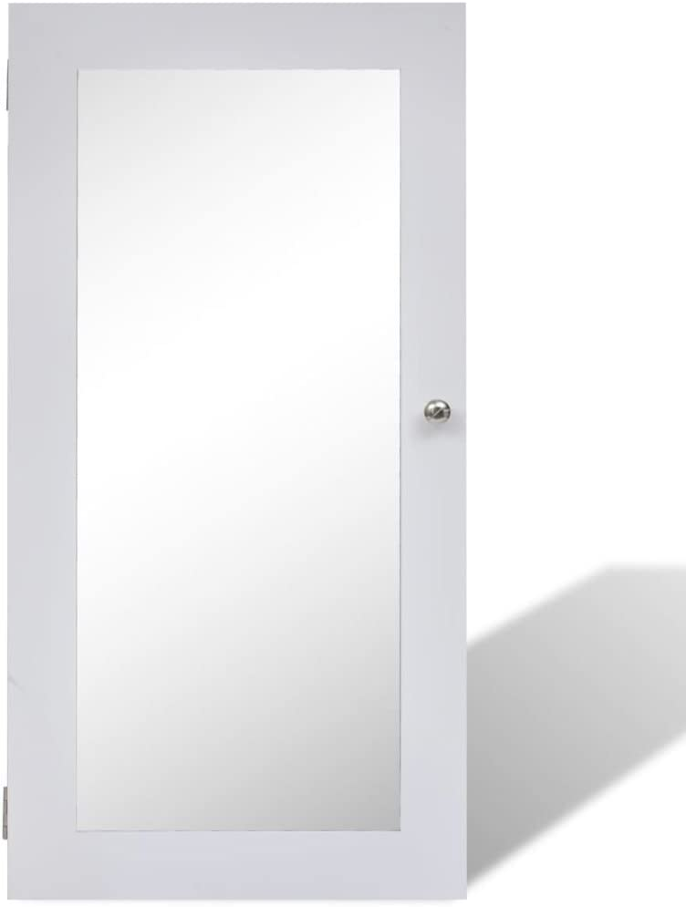 vidaXL Schmuckschrank Schmuckkommode Spiegelschrank H/ängeschrank Standspiegel