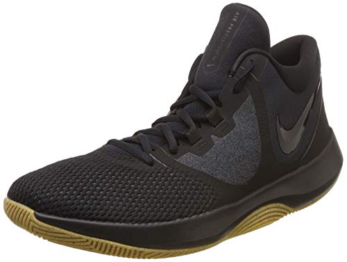 - Nike Mens AIR Precision 2 Black Black Gum Light Brown Size 13