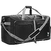 Bago 100L Travel Duffle Bag – Foldable Weekender Bag For Women & Men – Lightweight tier-resistant waterproof Shoe Pocket…