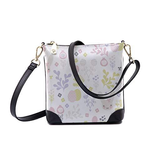 Shoulder Bag Pastel Bunny Spring Blossom Easter For Women Bucket Crossbody