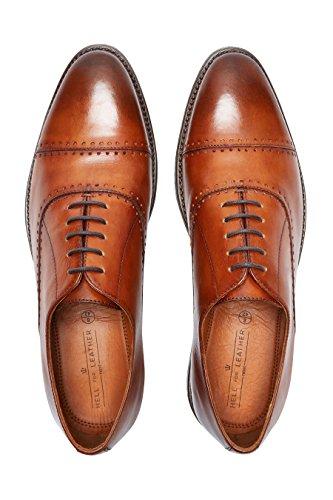next Hombre Zapatos puntera perforada Corte Regular Bronceado