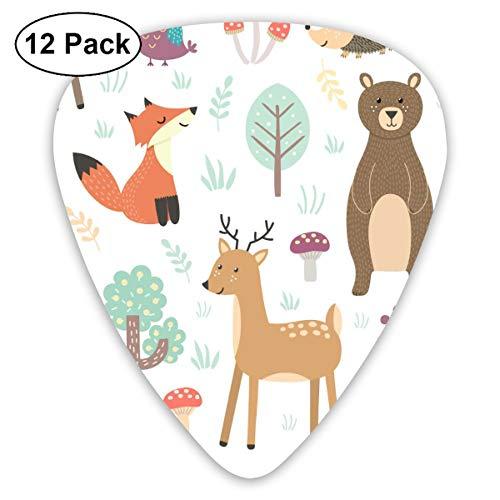 (HAIDILUN Animal, Animal Wildlife, Art, Baby Rabbit, Bear. Watercolor Guitar Picks Plectrums Acoustic Guitar Ukulele Picks 0.46 Mm, 0.73mm, 0.96 Mm,12 Pack)