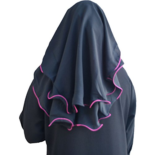Niqab 3-layer Fluttery Butterfly Saudi Niqab (Pink) by Hayaa Clothing