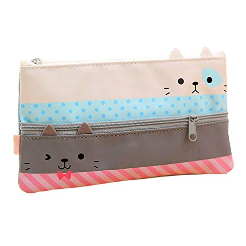 Funny live Convenient and Practical Pencil Case, Large Capacity Pen Bag, Creative Learning Products.(Gray)